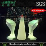 빛난 LED 가벼운 실내 바 의자 점화 안뜰 가구