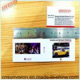 """"""" carte de nom d'entreprise de carte de sarclage de glissière de l'écran LCD 2.4"""
