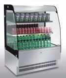 Kuchen-Bildschirmanzeige-Schaukasten-Kühlvorrichtung mit LED-Licht-und Marmor-Unterseite