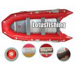 Peschereccio gonfiabile con il motore di pesca a traina, barca gonfiabile poco costosa