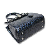Projetos na moda da parte alta dos sacos de ombro de couro de Crocs para sacos das mulheres