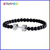 Fitlife schwarzer und silberner Dumbbell-Armband-SportWristband