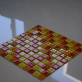 Hot Sale Red Orange Yellow Glass Mosaic Swimming Pool Tile