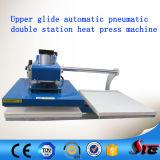 二重端末40*50 Upglideの空気のTシャツの自動熱の印字機
