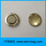 Divisa conocida magnética redonda del acero inoxidable de D17mm