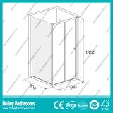 Het Scherm van de Douche van de Spil van het aluminium met Aangemaakt Gelamineerd Glas (SE923C)