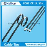 Kabel Tie&#160 van het Roestvrij staal van het zelf-Slot van de nieuwe Technologie de Uitgedreven pvc Met een laag bedekte;