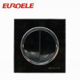 3 schwarze Farben-runder Druckknopf-Wand-Schalter der Gruppe-10A