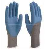 Безопасности труда производственных рабочих латекса пены перчатки работы Coated защитные