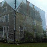 El edificio grande impreso de encargo envuelve la bandera del acoplamiento, bandera del acoplamiento de las cubiertas del andamio