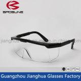 Los vidrios de moda del marco negro borran los vidrios del trabajo de la seguridad de la visión de HD que pintan la impresión Anti-Salpican anteojos contra la radiación