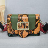 Bolso de hombro del cuero genuino de la piel de serpiente de los bolsos de la marca de fábrica del diseñador de moda Emg4776