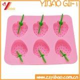 Molde de la torta del molde del chocolate de la bandeja/del silicón del cubo de hielo de la dimensión de una variable de Stawberry del silicón