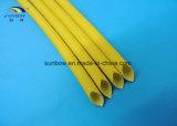 Les fils électriques ont verni la température élevée gainante de fibre de verre de silicones résistante