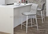 Silla gris clara moderna de la barra de la cocina del cuero del salón (NK-DCA038-1)