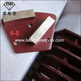 Rectificado de diamante Placa de hormigón 2 barras trapezoidales