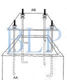 إرتفاع باطنيّة قابل للتعديل [بسكتبلّ هووب] حامل قفص مع يليّن ظهار زجاجيّة