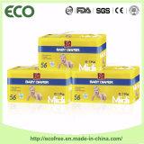 Absorbierfähigkeit u. Breathable mit grosse Taillen-Band Ecofree Marken-Wegwerfbaby-Windel