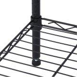 Cremalheira preta do metal do fio para o armazenamento Home do uso da sala de visitas