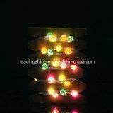 Luzes impermeáveis da corda da forma do diamante para multi ao ar livre interno dos bulbos do diodo emissor de luz do fio de cobre 100 de 33 FT do quarto coloridas