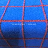 Tela aplicada con brocha de las lanas de la verificación para el sobretodo