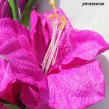 가정 결혼식 훈장을%s 실제적인 접촉 분홍색 인공 꽃 가짜 백합