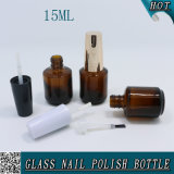 1/2 Unze leere bernsteinfarbige Glasnagellack-Flasche 15ml