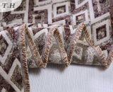 Tessuto variopinto 100% del sofà del jacquard del poliestere del reticolo del diamante