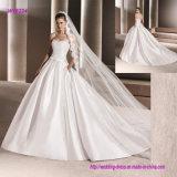 Alineada de boda sin tirantes blanca caliente del vestido de bola de la venta
