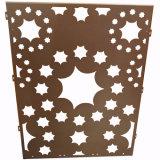 Het moslim Blad van het Aluminium van het Patroon Ontwerp Geperforeerde voor de Decoratie van de Voorzijde van het Scherm