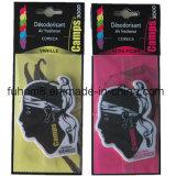 Bevanda rinfrescante di aria di carta d'attaccatura popolare dell'automobile con buon profumo