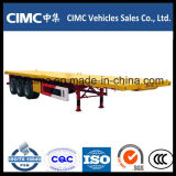 Cimc 40 Voet 3 Flatbed Aanhangwagen van de As 40 Ton