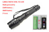 900 Lumens Xm-L T6 Rechargeable 18650 Batterie Flash Light