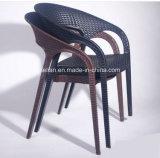 Cadeira poli plástica do Rattan para a mobília ao ar livre do jardim (LL-0077)