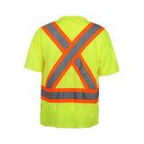 T-shirt 100% r3fléchissant de sûreté de Birdeye de polyester