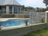 Frameless Glasbalustrade-System für Terrasse