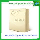 Sac de papier promotionnel estampé par coutume de sacs à provisions de transporteur