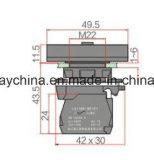 22mm quadratischer Typ Drucktastenschalter mit Bescheinigung