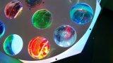 Novo 16X3w RGBW Rotation Vortex Flower LED efeito luz para iluminação de estúdio