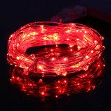Lámparas de interior de hadas de las luces rojas LED del alambre de cobre de Druable de la cadena multi del USB