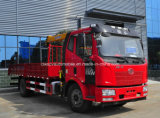 FAW 12 tonnes de camion de camion a monté avec 6 tonnes de XCMG de prix de grue