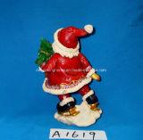De antieke Kerstman met de Decoratie van de Boom van de Vakantie