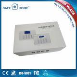 Sistema 2017 de alarma sin hilos de la seguridad del ladrón del G/M del hogar de la visualización del LCD