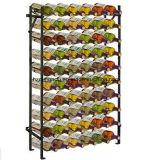Самомоднейшая стойка индикации вина шкафа вина бутылки металла 60