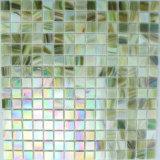 Grünes Iridium-Glas-Mosaik