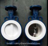 Клапан-бабочка вафли покрытия PTFE (D71X-10/16)