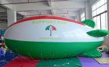 Globo de helio Zeppelin azul y blanco al por mayor de PVC inflable Publicidad del dirigible no rígido