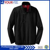 高品質の現実的な半分のジッパーのプルオーバーポリエステルMicrofleeceのジャケット(YYLR114)
