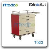 入院患者のための鋼鉄医学のカートの処置のトロリー