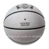 Basket-ball officiel en cuir réel argenté d'allumette de taille